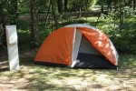 campsite on tour
