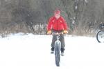 Pre snow bike race