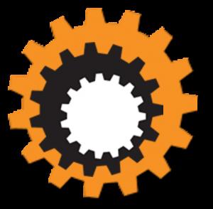 Chain Reaction Colored Cog (orange,blk,wht) 2009